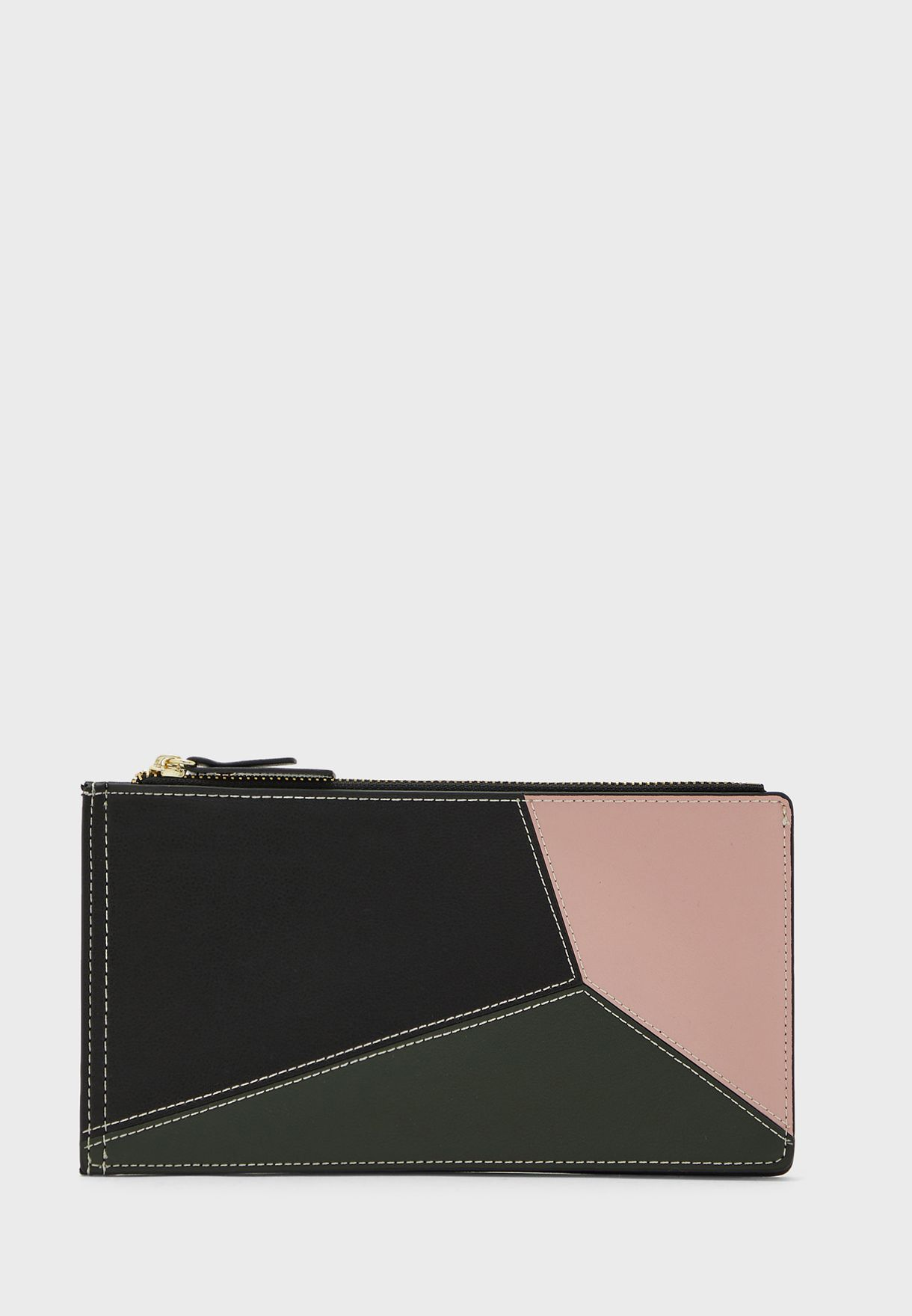 Colourblock Purse