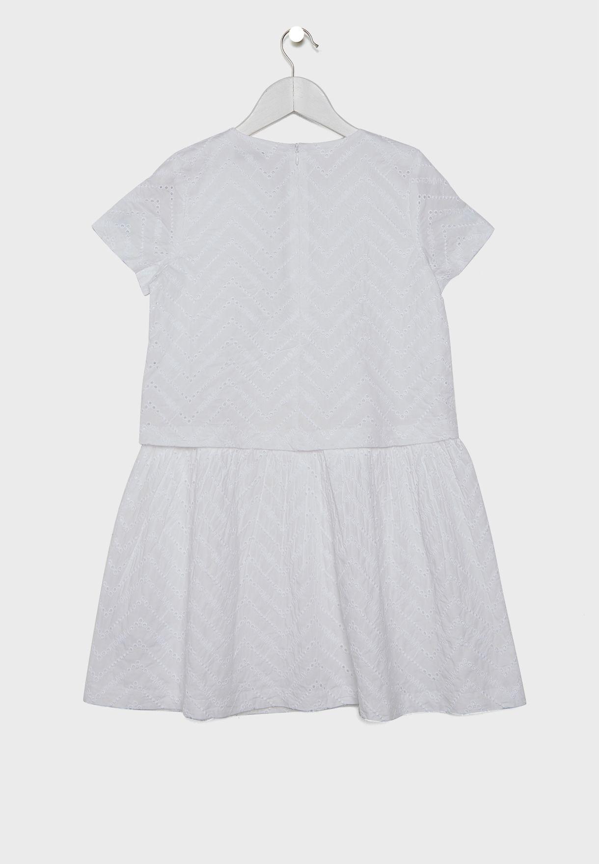 Teen Broderie Anglaise Dress