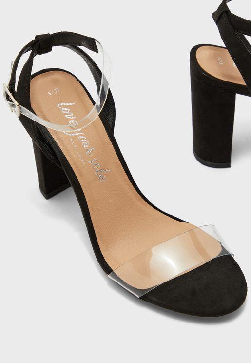 Transparent Strap Sandal