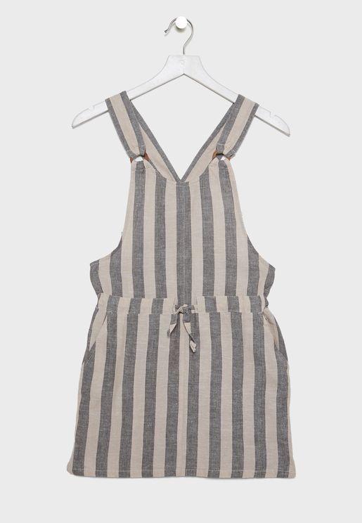فستان بطباعة خطوط للاطفال