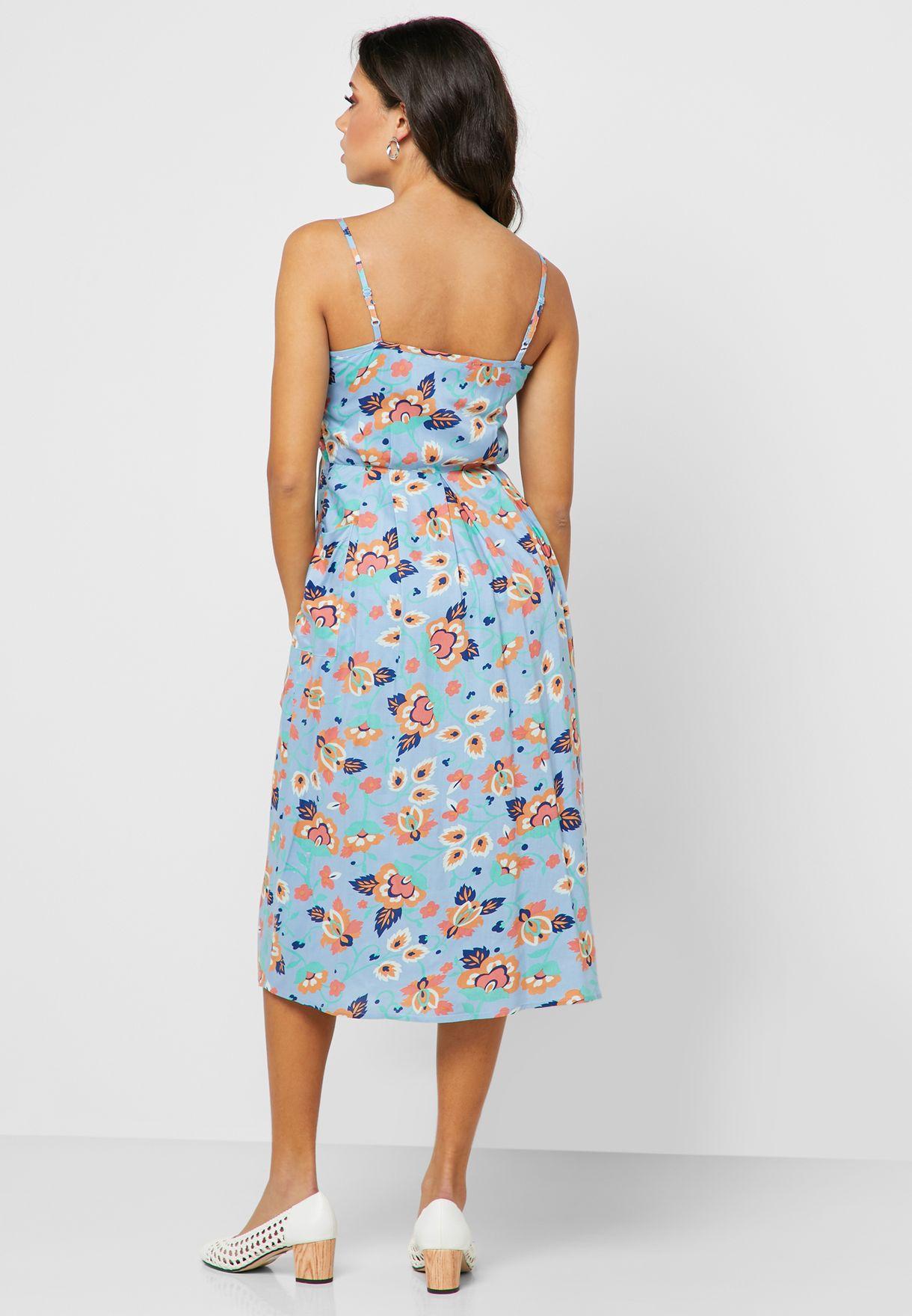 فستان ميدي مطبع