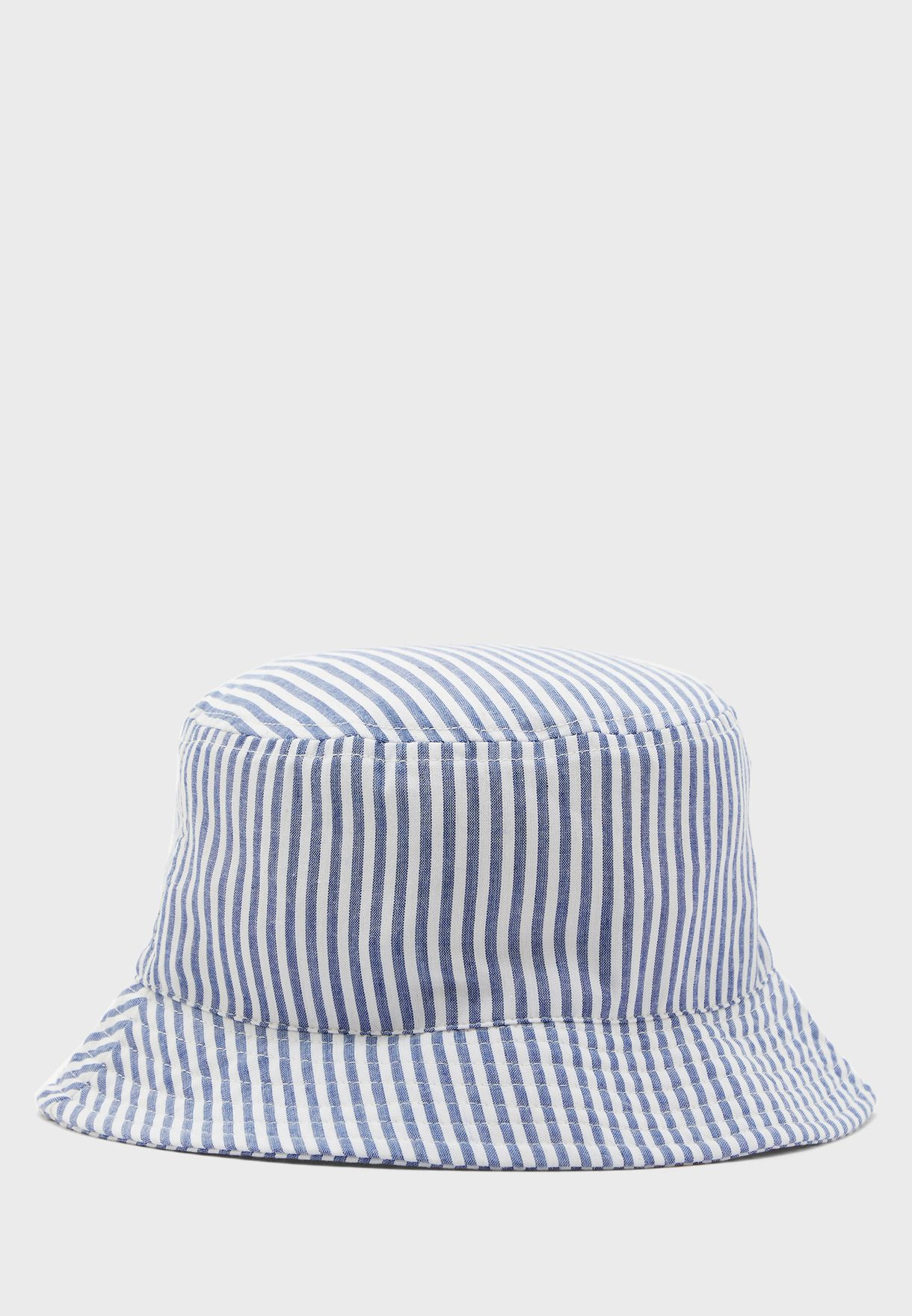 Buy Forever 21 Stripes Flat Top Striped Sunshade Hat For Women In Muscat Other Cities 271094