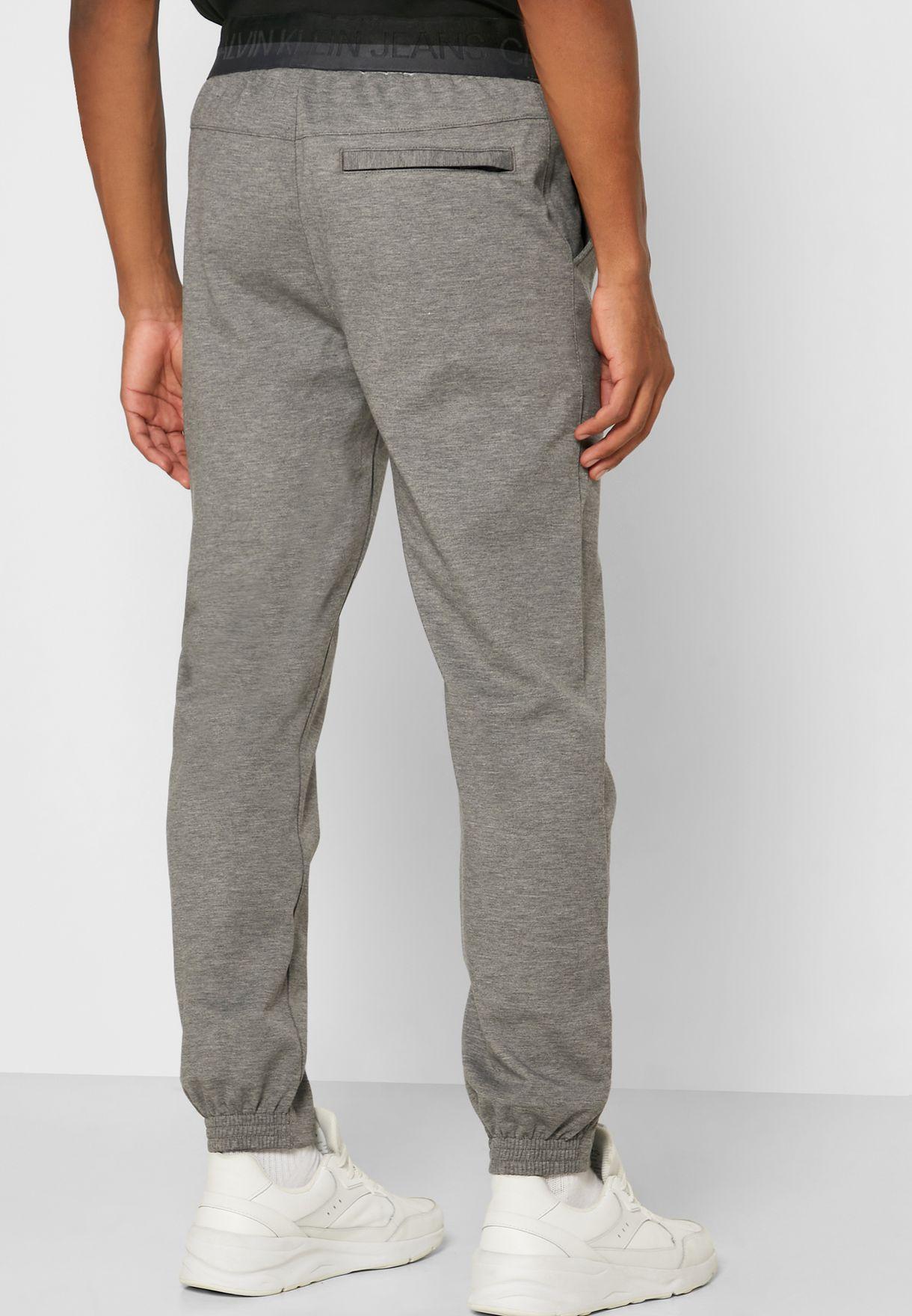 Textured Drawstring Sweatpants