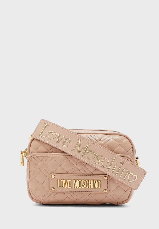 Top Zip Quilted Crossbody