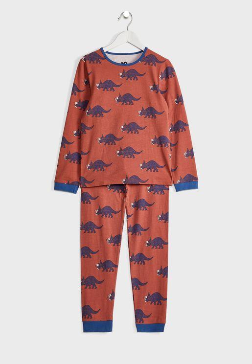 Kids Dinosaur Print Pyjama Set