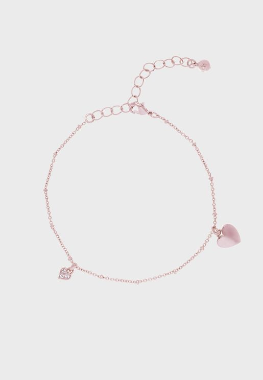 Ankla Heart Charm Anklet