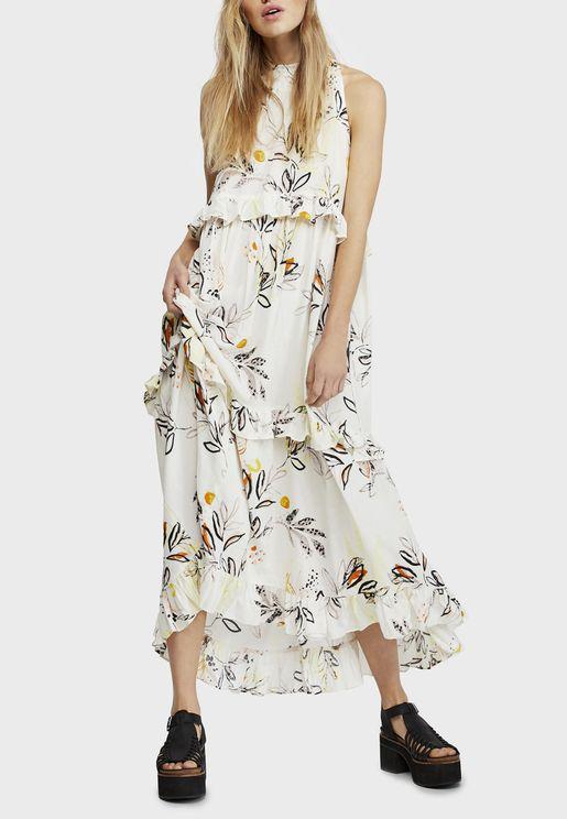 Anita Floral Print Belted Dress