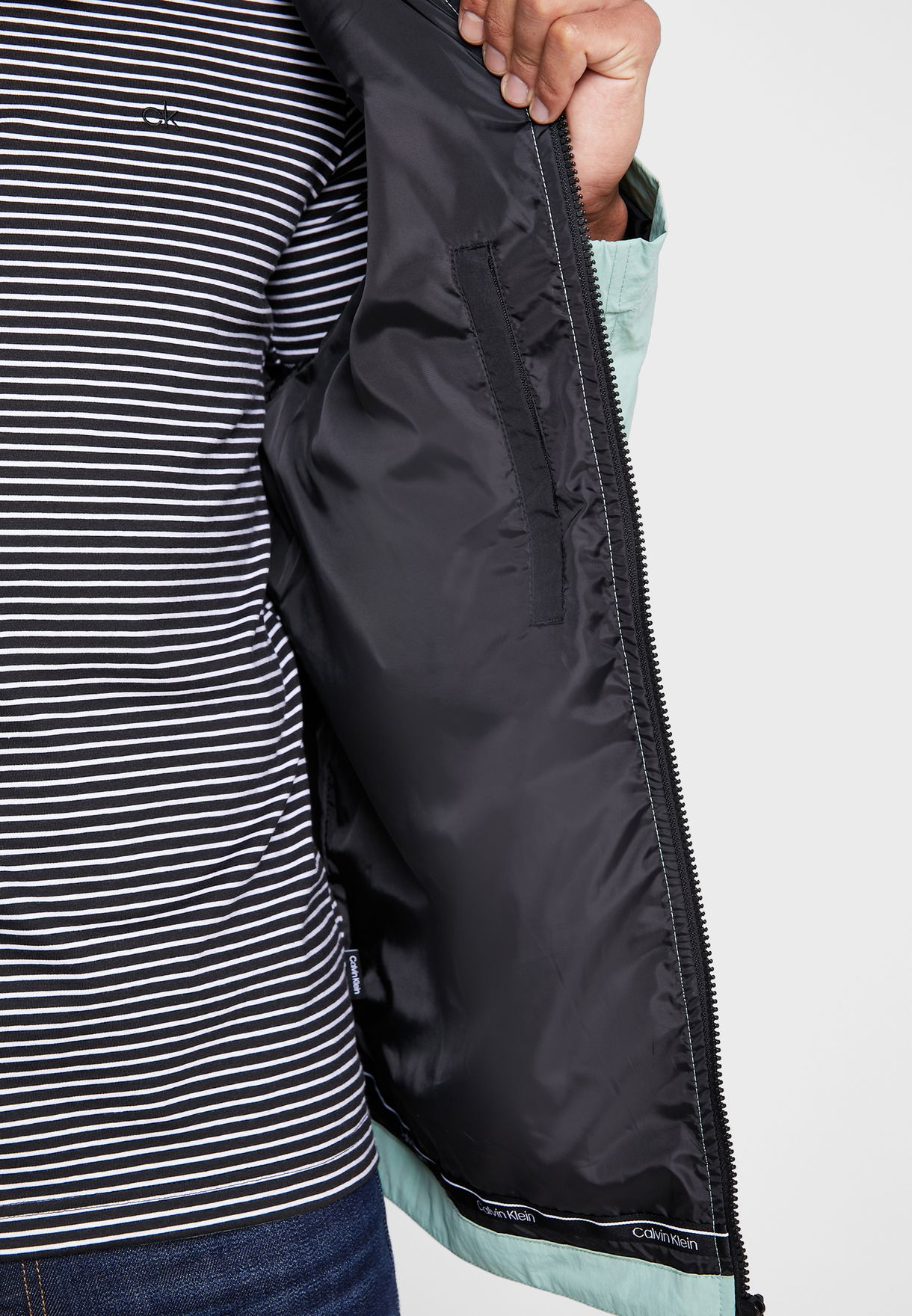 Crinkle Blouson Jacket