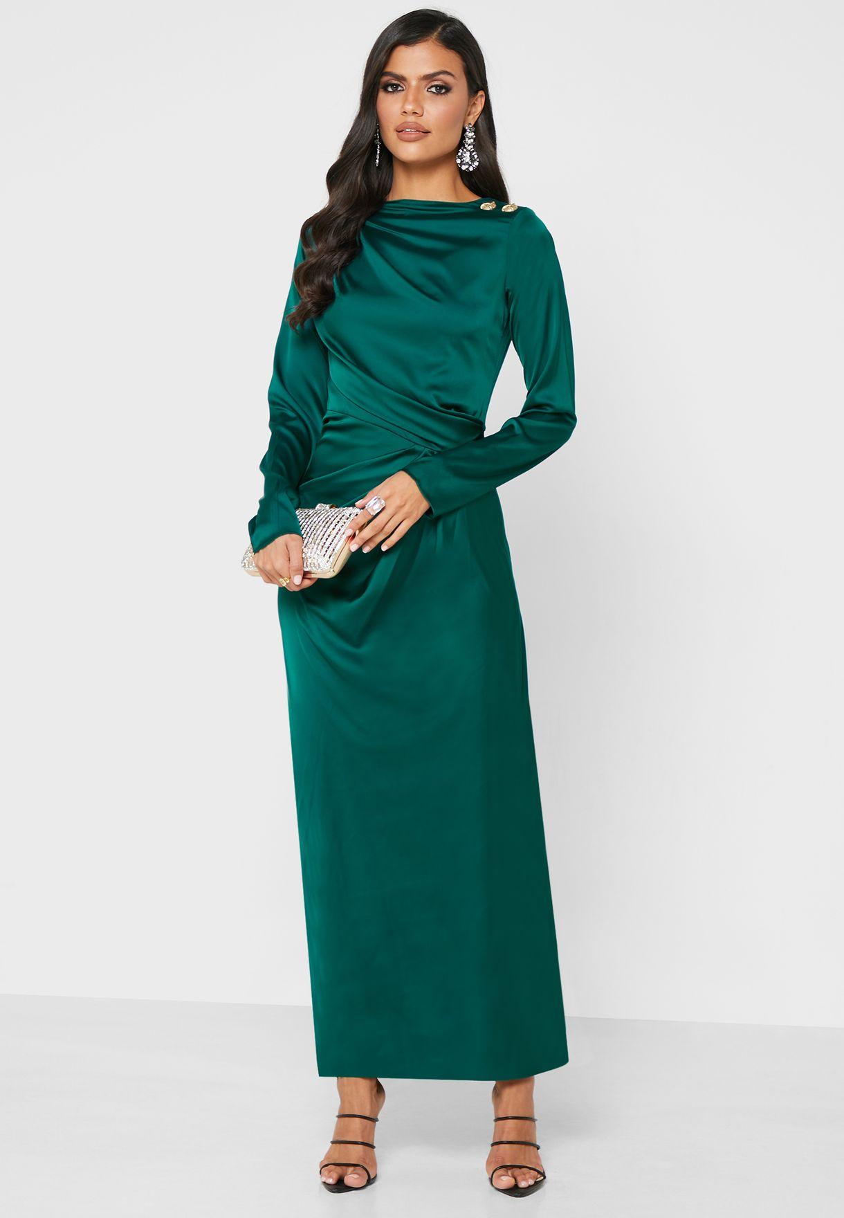 Side Waist Ruched Detail Dress