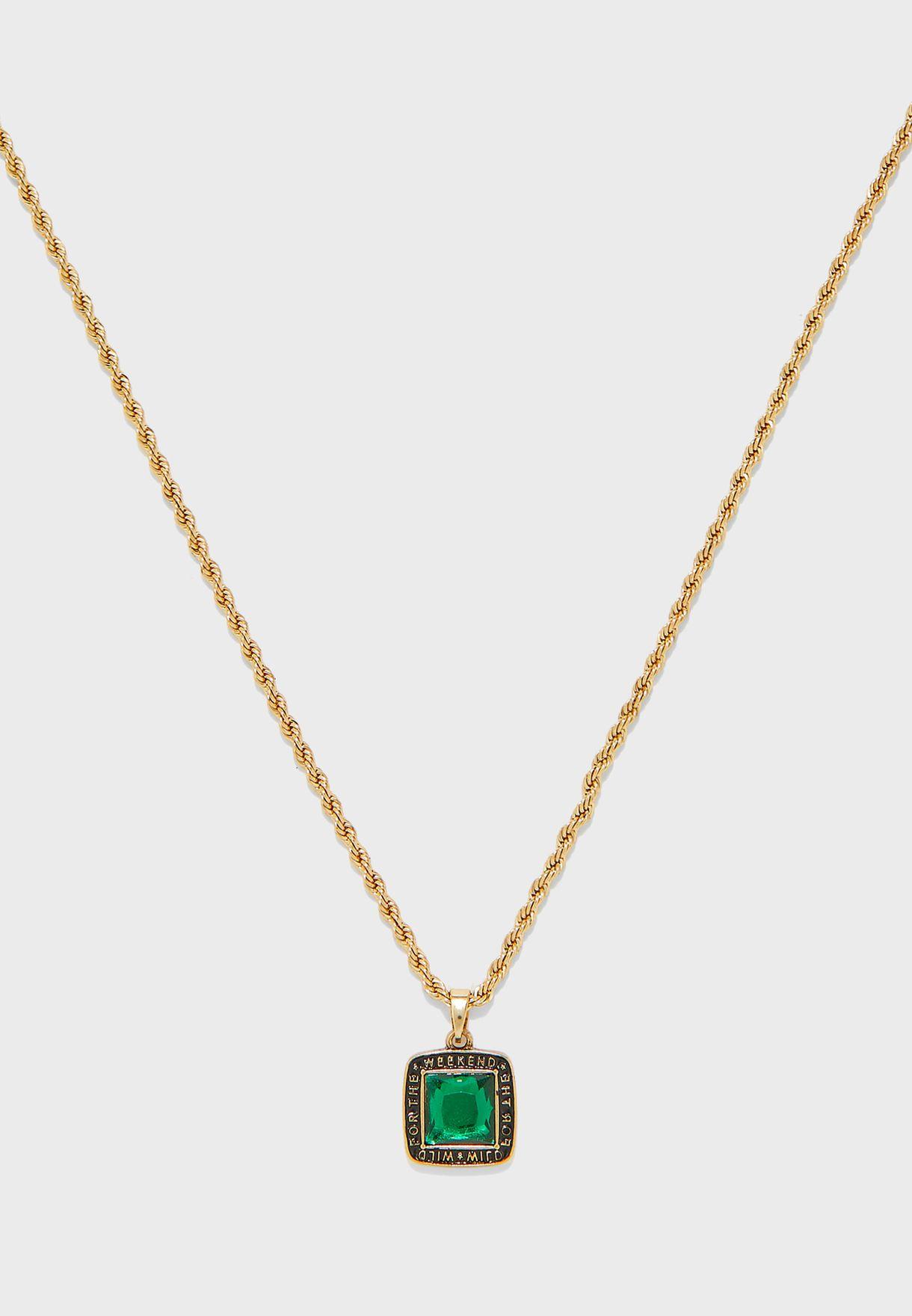 Square Pendant Necklace