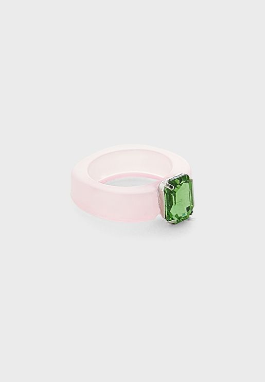 Bejewelled Arcylic Ring