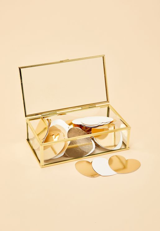 Gold Glass Wedding Guest Box