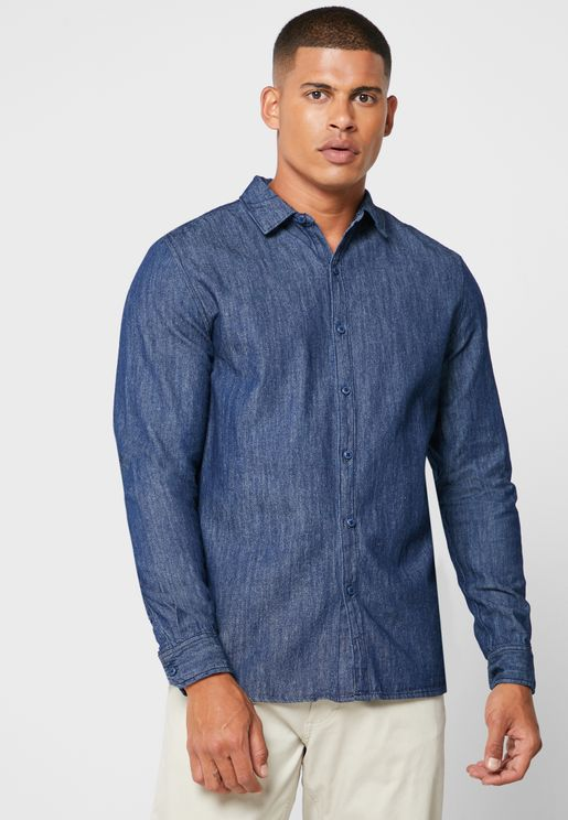 Rinse Regular Fit Denim Shirt