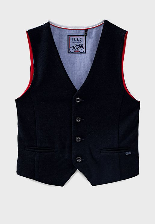 Youth Button Fastening Waistcoat