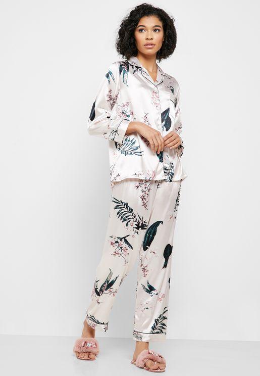 Floral Satin Pyjama