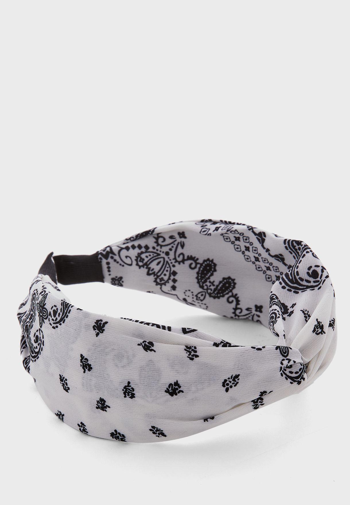 Paisley Print Twisted Headband