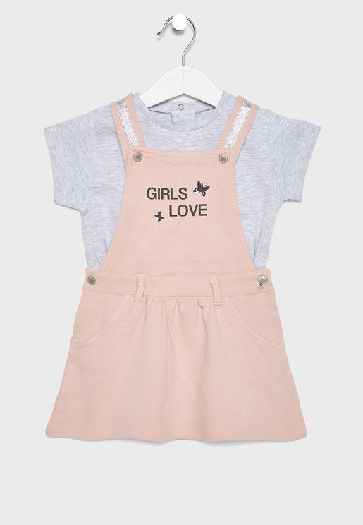 Little Girls Love Skirt + T-Shirt Set