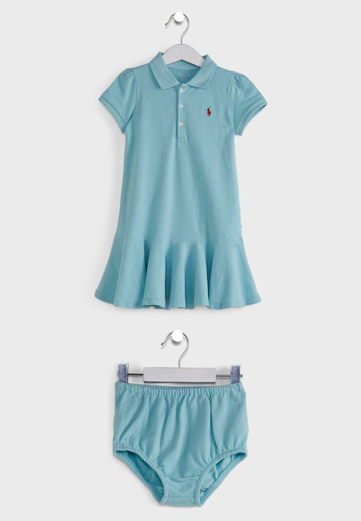 Infant Shirt Look Dress and Knickers