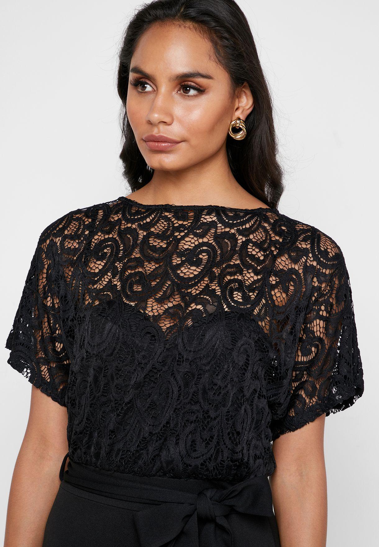 Sheer Lace Dress