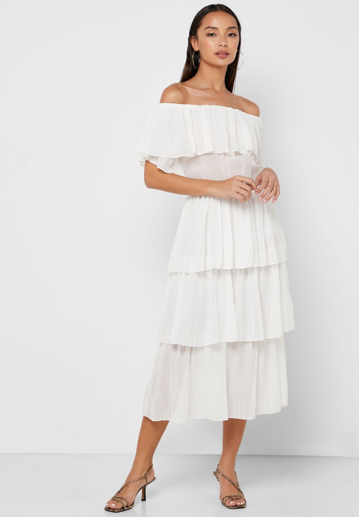فستان ميدي بعدة طبقات