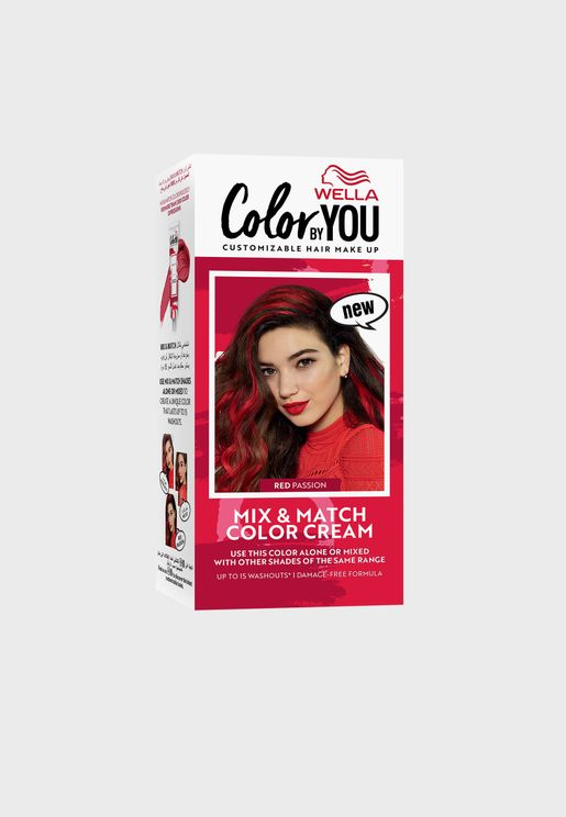 Mix & Match Hair Color Cream Red Passion