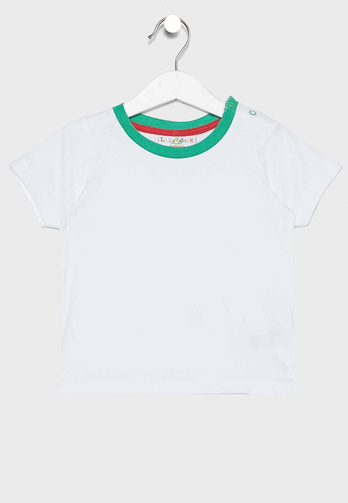 Infant Essential T-Shirt + Dungaree Set