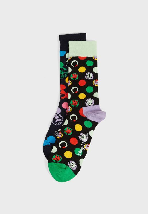2 Pack Disney Crew Socks