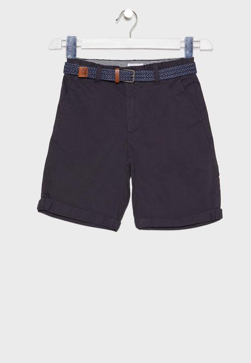 Kids Belted Shorts