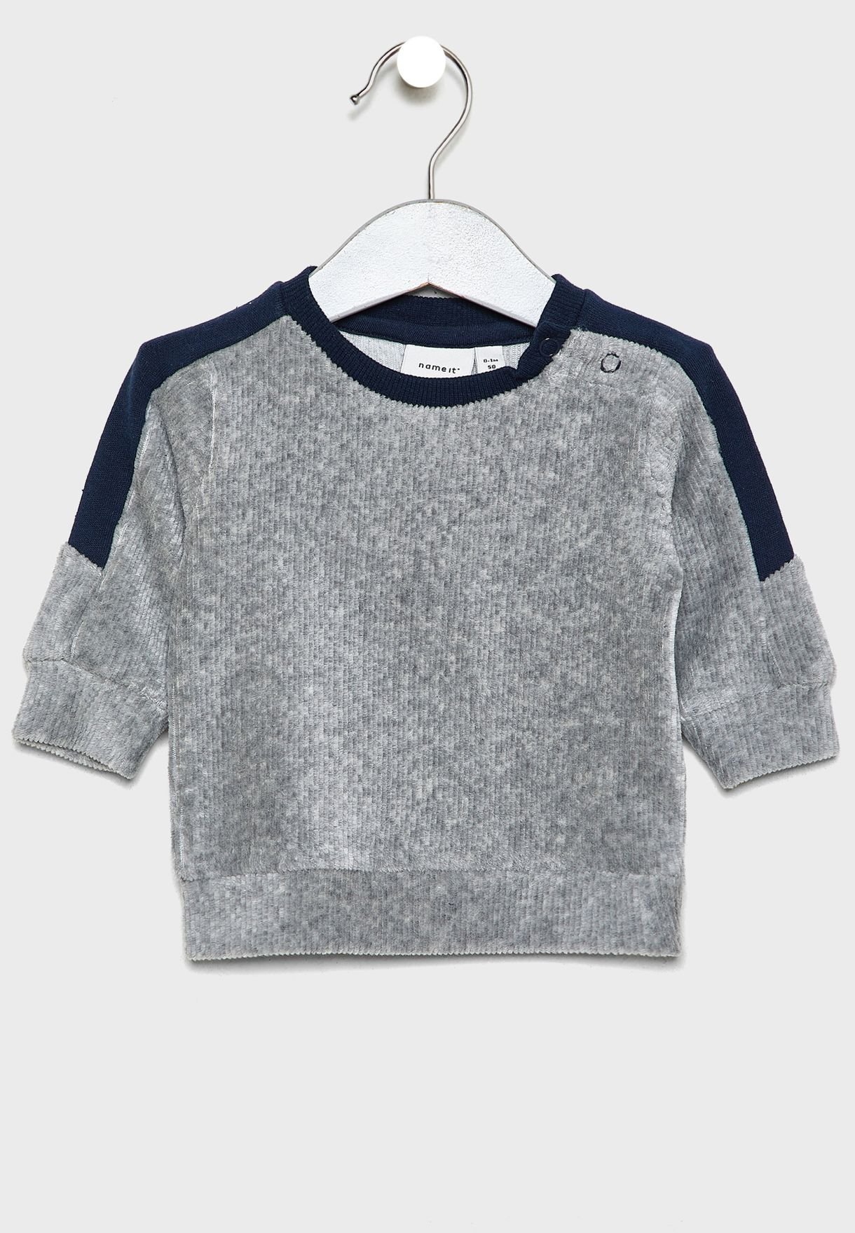 Infant Shoulder Stripe Sweatshirt