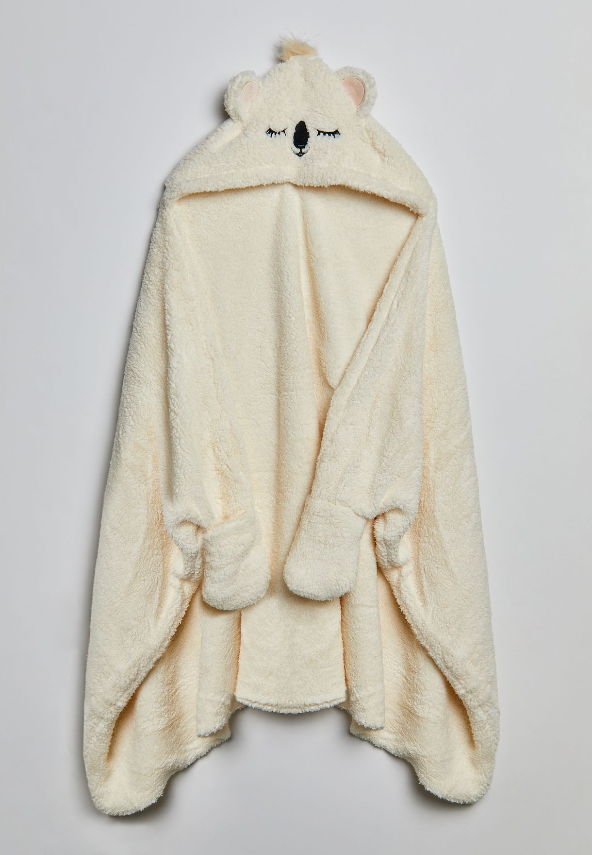 بطانية بياقة هودي