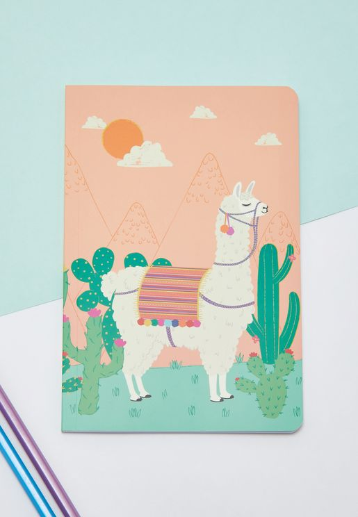 Llama Colouring Notebook