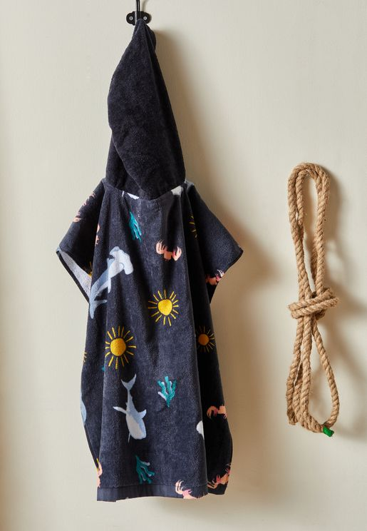 Kids Under The Sea Hooded Towel