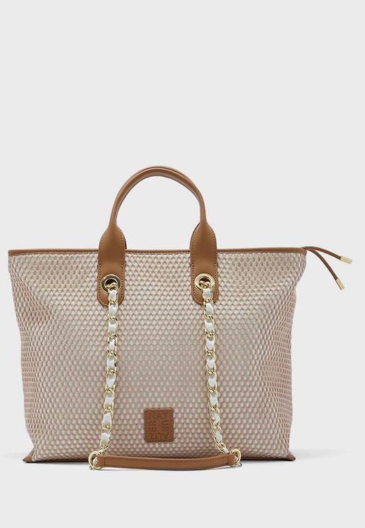Casual Mesh Tote Bag
