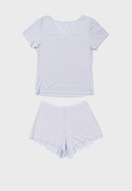 Printed T-Shirt & Shorts Set