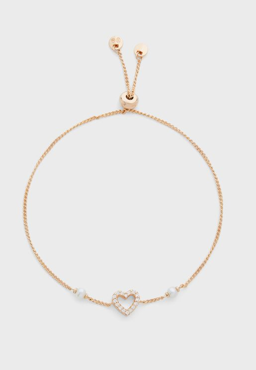 Heart Stone Detail Bracelet