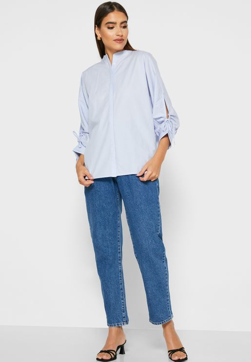 جينز بخصر بيبرباج