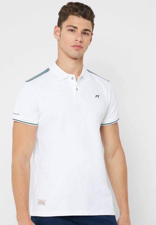 Shoulder Stripe Piquet Polo