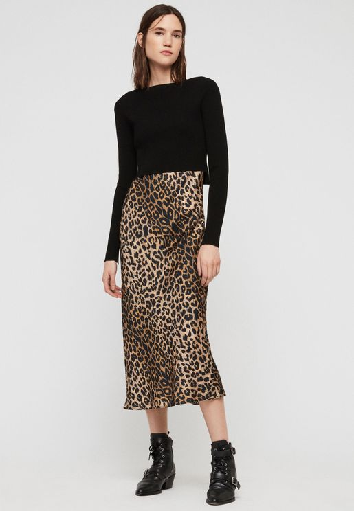 Hera Leopard Print Skirt Dress