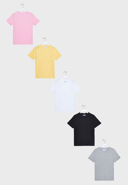 Kids 5 Pack Essential T-Shirt