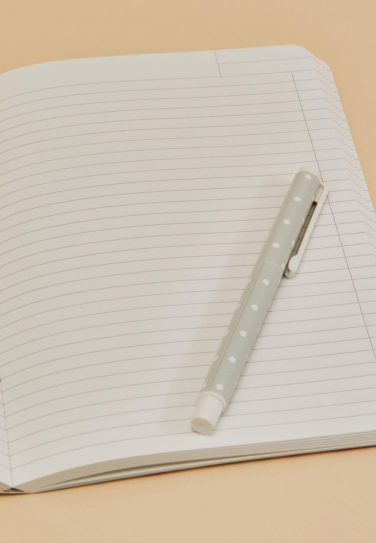دفتر ملاحظات A5 مزين بطباعة ازهار