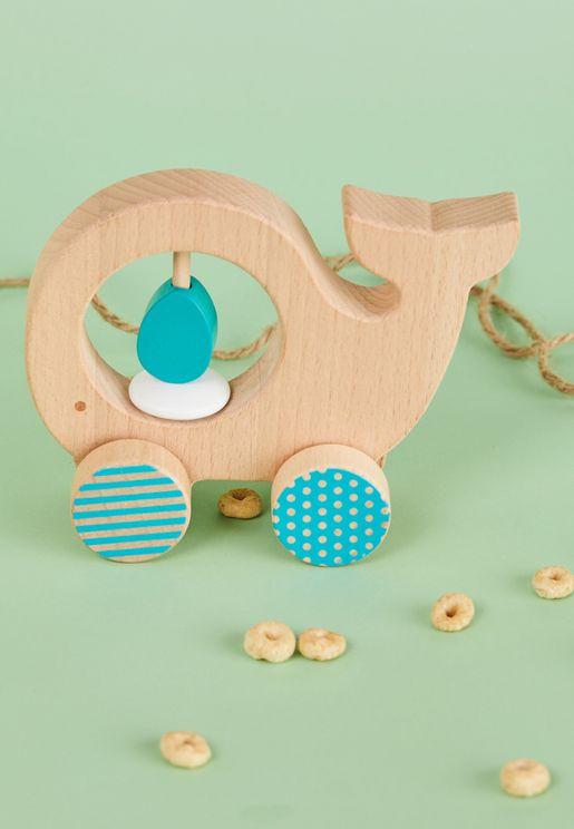 عربة خشبية للحيوانات الصغيرة