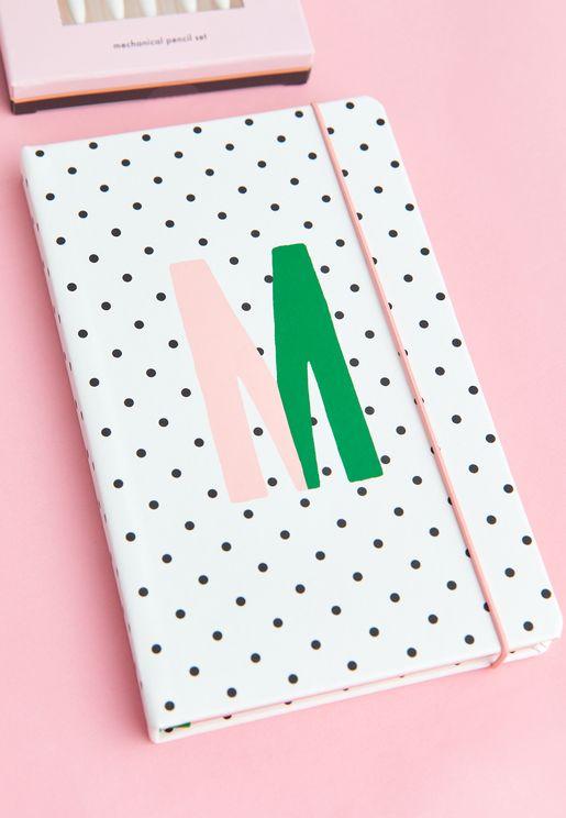 Take Note Large Monogram Notebook - M