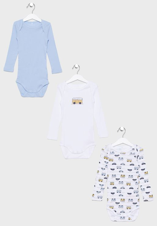 Infant 3 Pack Graphic Bodysuit