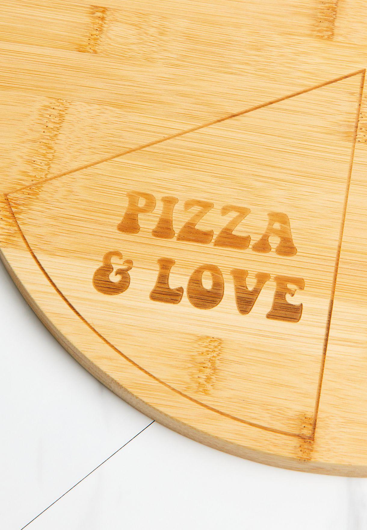 لوح بيتزا من الخيزران