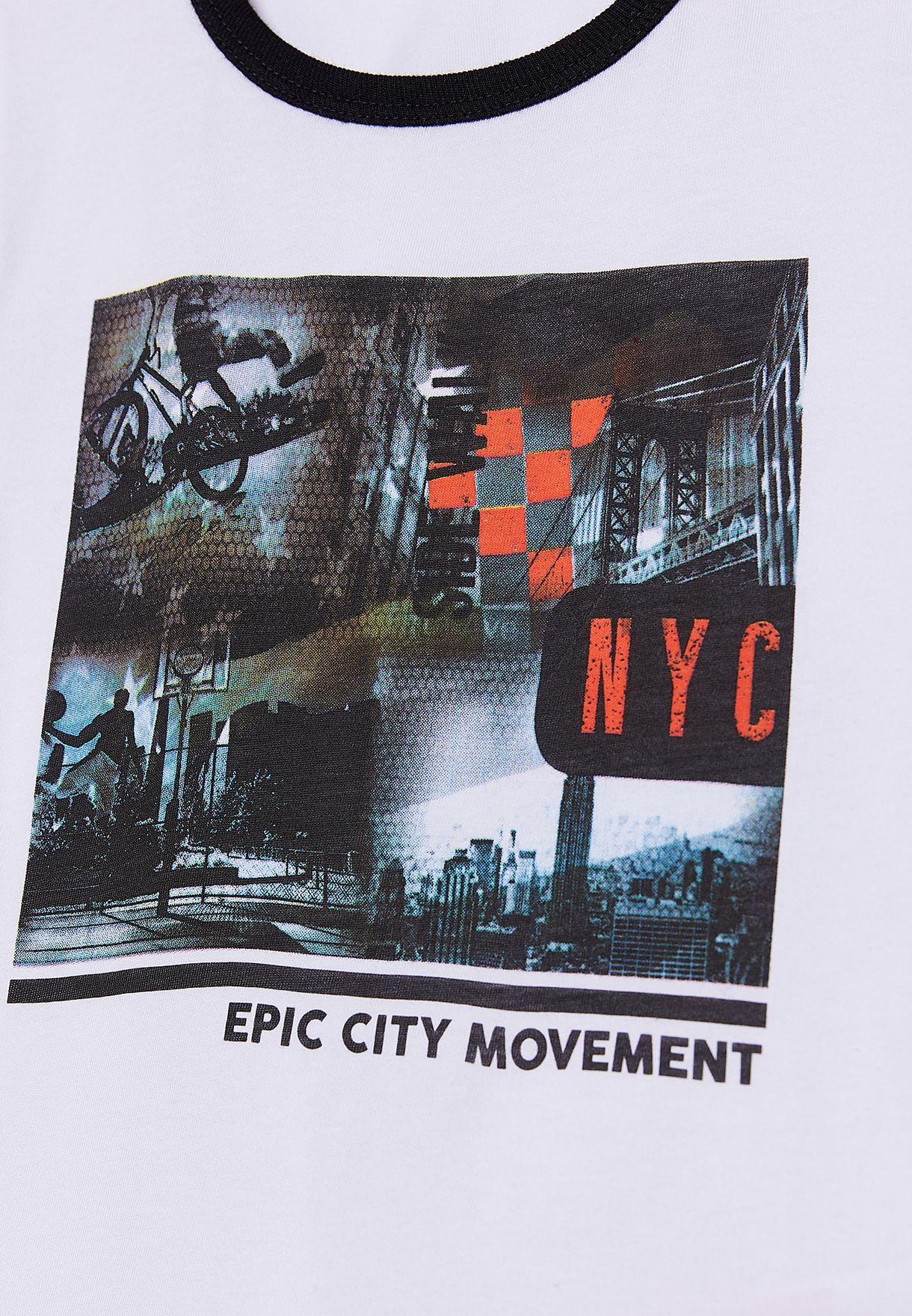 Little Graphic Ringer T-Shirt