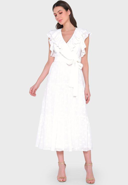 Ruffle Detail Shift Dress
