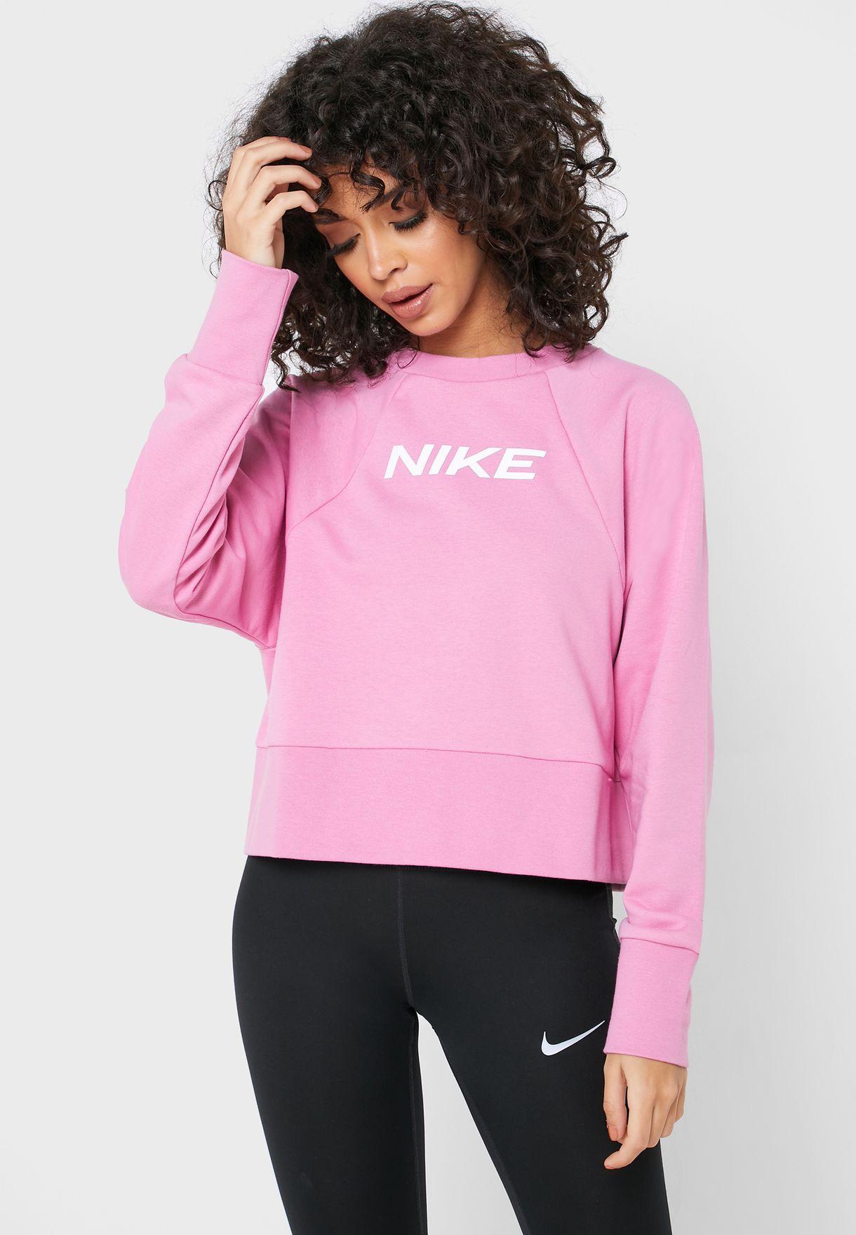 A escala nacional Destruir pastel  Buy Nike pink Dri-FIT Sweatshirt for Women in MENA, Worldwide | CQ9305-693