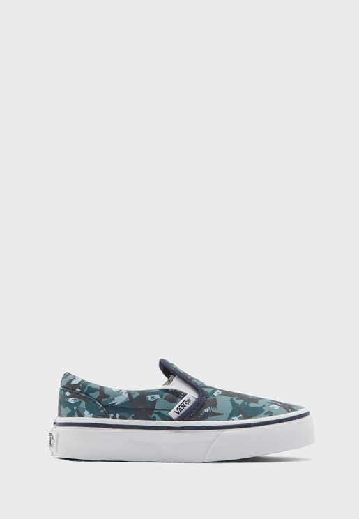Kids Animal Camo Classic Slip-Ons