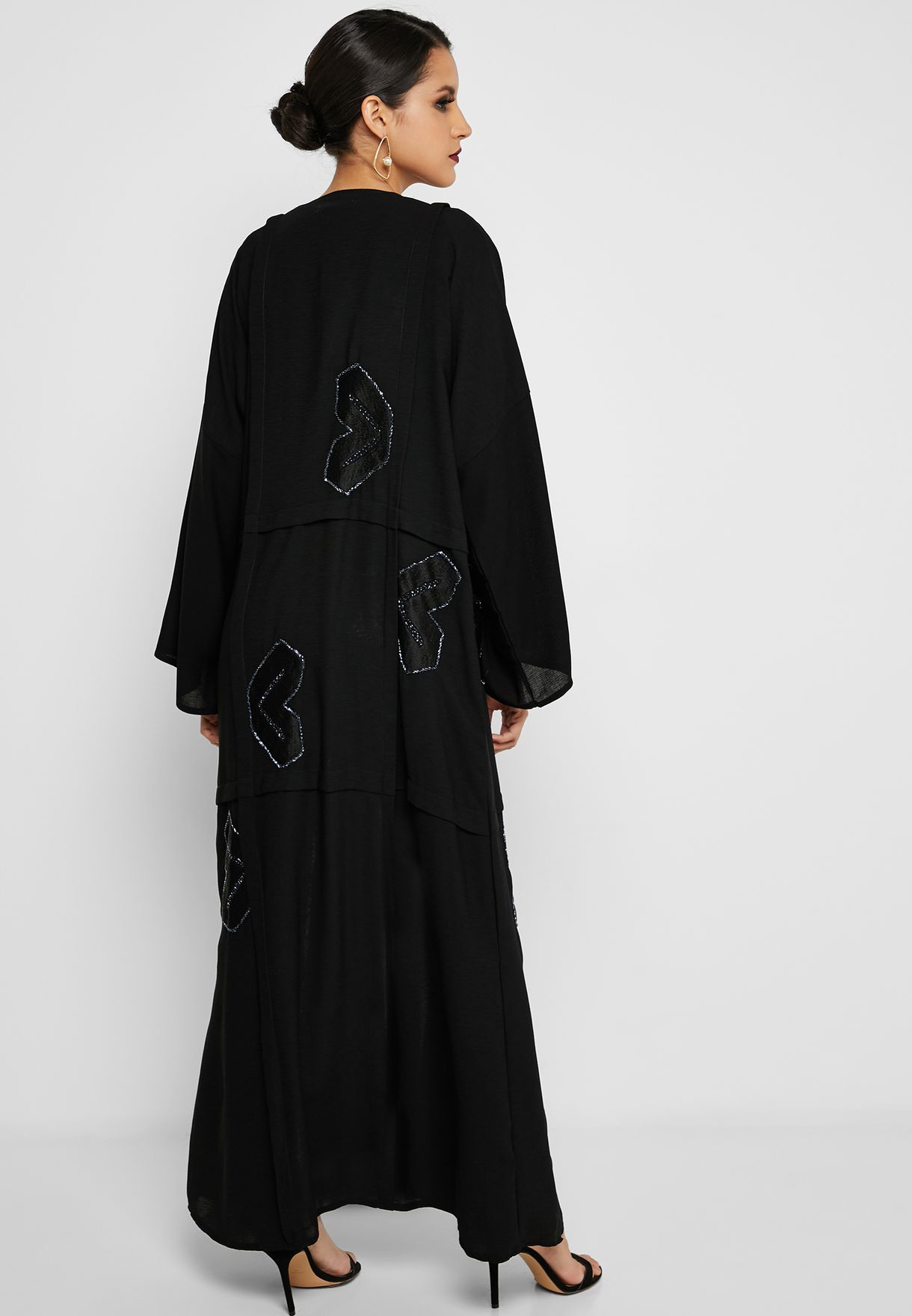 Embroidered Front Panel Abaya