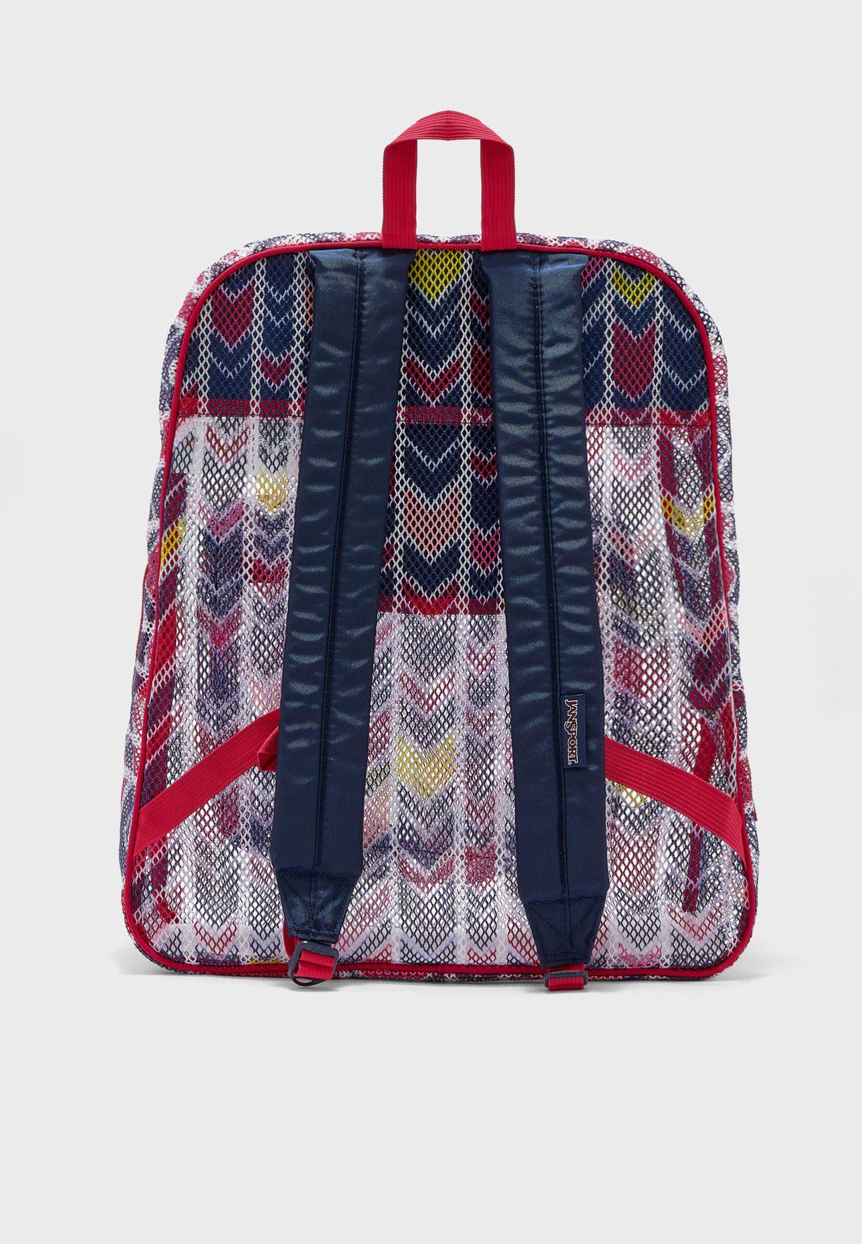 Chevron Mesh Backpack